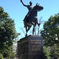 Photo taken at Simon Bolivar, the Liberator Statue by Chris D. on 6/4/2013