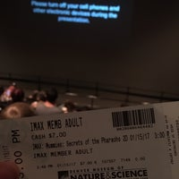 Photo taken at Phipps IMAX, Denver Museum of Nature & Science by Liz A. on 1/15/2017