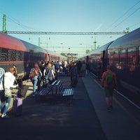 Photo taken at Tatabánya vasútállomás by Hatem R. on 6/14/2013