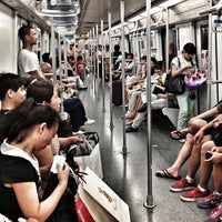 Photo taken at S. Huangpi Rd. Metro Stn. by Peter  拖轮彼得 V. on 8/13/2013