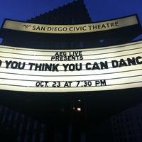 Снимок сделан в San Diego Civic Theatre пользователем Pam L. 10/24/2012