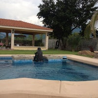 Photo taken at Mónica's Exclusive Pool Resort by Alma B. on 6/8/2013