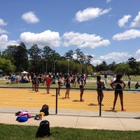 Photo taken at Southeastern Track and Field Complex by Damon S. on 4/18/2014