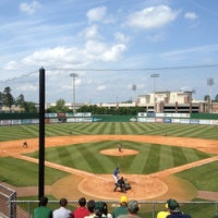 Photo taken at Pat Kenelly Diamond at Alumni Field - SLU Baseball by Damon S. on 4/27/2013