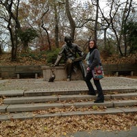 Photo taken at Hans Christian Andersen Statue by heather e. on 11/24/2012