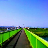 Photo taken at 千歳橋 by GATTACA on 4/28/2013