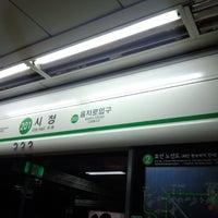 Photo taken at City Hall Stn. by Pochi ぽ. on 11/18/2012