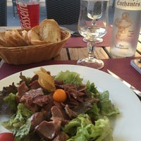Photo taken at Restaurant aux Cepes Enchantes by Nora D. on 8/26/2016