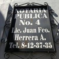 Photo taken at Notaría Pública No. 4 by Sergio C. on 2/27/2013