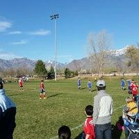 Photo taken at Lone Peak Park Soccer Fields by Alex G. on 3/29/2015