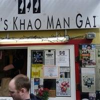 Photo taken at Nong's Khao Man Gai by Aaron J. on 3/22/2013