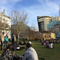 Photo taken at Jardim do Arco do Cego by Briana V. on 3/4/2015