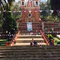 Photo taken at Iglesia Santiago Apostol Metepec by Yaz S. on 3/31/2015
