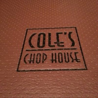 Photo taken at Cole's Chop House by Dorothy D. on 3/22/2013