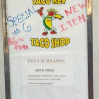Photo taken at Taco Rey Taco Shop by Jonathan C. on 10/5/2012