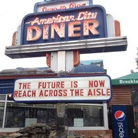 Photo taken at American City Diner by Ricardo H. on 12/1/2012