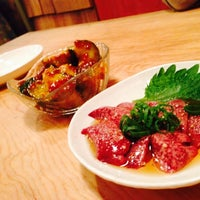 Photo taken at 炭火焼食堂 nikawa by Miyuky on 5/9/2014