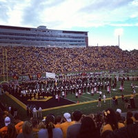 Photo taken at Faurot Field at Memorial Stadium by Caitlin C. on 9/15/2012