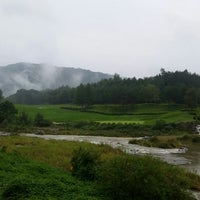 Photo taken at 용산교 by Brian R. on 8/14/2014