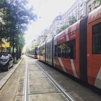 Photo taken at Štěpánská (tram) by Blanche N. on 8/11/2016