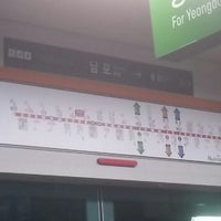 Photo taken at Nampo Stn. by Jeong Ha L. on 1/25/2014