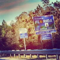 Photo taken at Alabama / Florida State Line by Briana R. on 1/4/2014