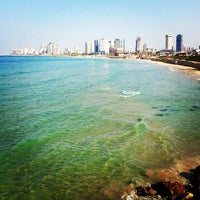 Photo taken at Yaffo Beach by ✿Olga P. on 1/5/2014