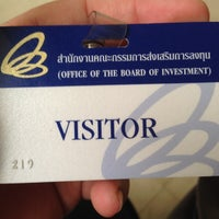 Photo taken at Office of The Board of Investment -BOI by Chiane RCDI on 8/6/2014