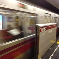 Photo taken at Azabu-juban Station by Marica O. on 11/9/2011