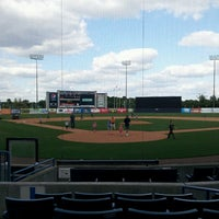 Photo taken at George M Steinbrenner Field by Irene A. on 4/6/2013
