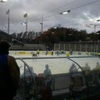 Photo taken at Ice Arena Sankt Moritz by Stefan H. on 11/3/2012