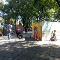 Photo taken at Plaza San Justo by Alejandro C. on 3/23/2013