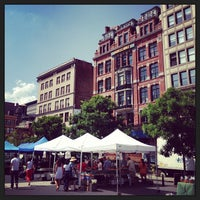 Photo taken at Union Square Greenmarket by Andrea R. on 7/5/2013