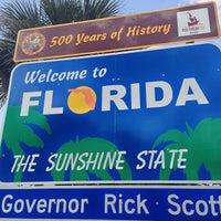 Photo taken at Florida / Georgia State Line by Rob M. on 9/14/2013