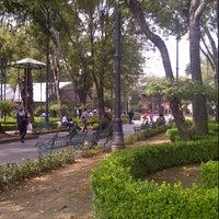 Photo taken at Jardín Hidalgo by Asmi Q. on 10/13/2012