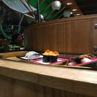 Photo taken at Isobune Sushi by Thomas H. on 6/10/2017