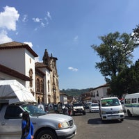 Photo taken at Plaza Gertrudis Bocanegra by Eduardo G. on 11/3/2017