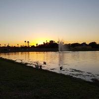 Photo taken at Town Lake at Fireman's Park by Luis Damian V. on 10/25/2017