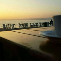 Photo taken at Rıhtım Beach by Habibe Y. on 12/21/2015
