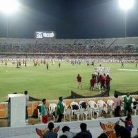 Photo taken at Rajiv Gandhi Cricket Stadium by Richeek D. on 5/19/2013