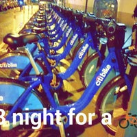 Photo taken at CitiBike Station (Rivington & Ridge) by Andrew F. on 3/14/2015