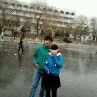 Photo taken at 榆林学院 by Stephan L. on 12/2/2012
