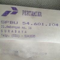 Photo taken at SPBU Pertamina 54.601.104 by Tigor S. on 4/12/2013