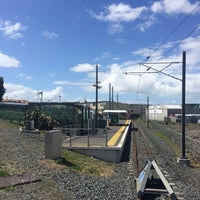 Photo taken at Onehunga Train Station by Darren D. on 2/14/2016