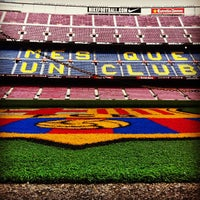Photo taken at Camp Nou by Carlos G. on 10/1/2013