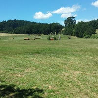 Photo taken at Cross Country @ Inavale Farm by Denise C. on 6/28/2013