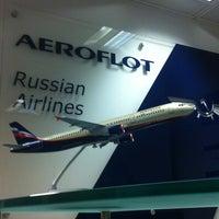Photo taken at Aeroflot by Ivan C. on 1/23/2013