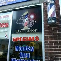 Photo taken at The Chosen 1 Barber Shop by David W. on 7/23/2013