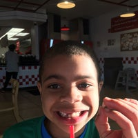 Photo taken at Five Guys by verena g. on 5/8/2016