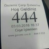 Photo taken at Garanti Bankası by 🍒Olcay🌾 ♊. on 3/3/2016